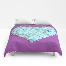 Heart on Lilac Comforters