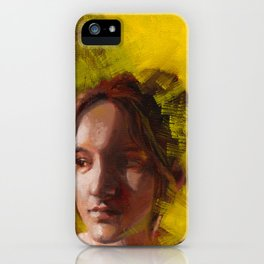 Megan, Fine Art Oil Painting Portrait Print iPhone Case