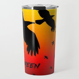Happy Halloween Murder of Crows  Travel Mug