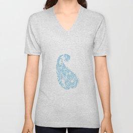 Paisley batik aqua Unisex V-Neck