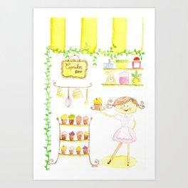 cupcakes shop Art Print