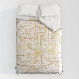 DALLAS TEXAS CITY STREET MAP ART Comforters