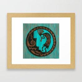 Turquoise Kokopelli Framed Art Print