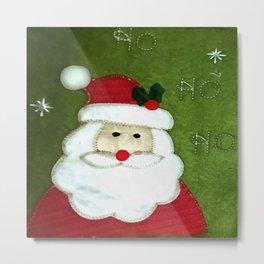 Ho Ho Ho Father Christmas Metal Print