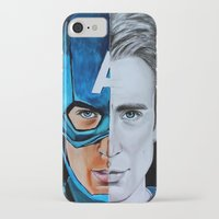steve rogers iPhone & iPod Cases featuring Steve Rogers by Goolpia