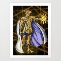 Aioria Leo Art Print