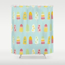Paddle Pops - Icy Poles - Ice Lollies - Ice Cream Shower Curtain