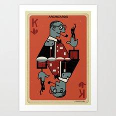 02_Archicard_Le corbusier Art Print