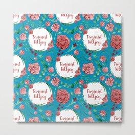 Feminist Killjoy - A beautiful floral pattern Metal Print