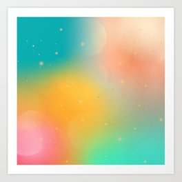 Celestial Galaxy Abstract Art Print