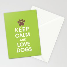 Keep Calm and Love Dogs Stationery Cards