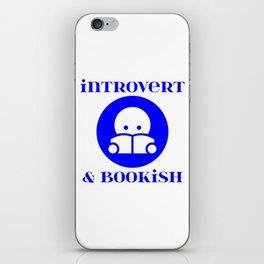 Introvert & Bookish iPhone Skin