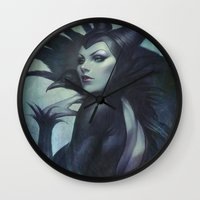 artgerm Wall Clocks featuring Wicked by Artgerm™
