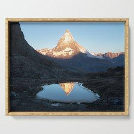 Matterhorn Sunrise Serving Tray