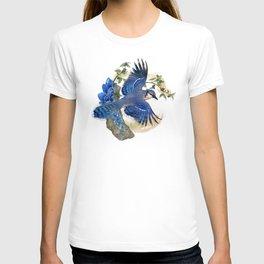 Blue Jay and Hauyne Crystals T-shirt