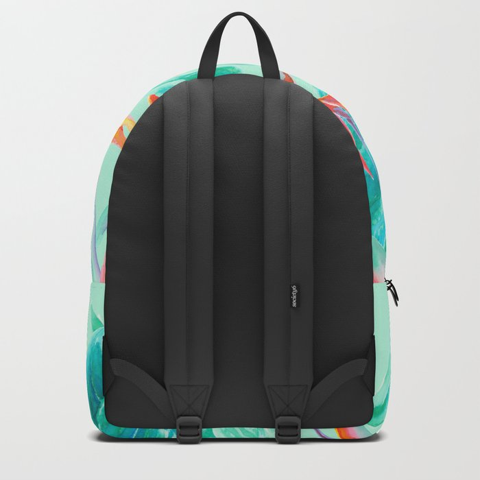 Birds Of Paradise Mint Backpack