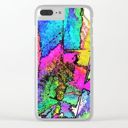 Scraped Away Clear iPhone Case