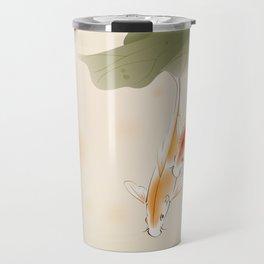 Koi fishes in lotus pond Travel Mug