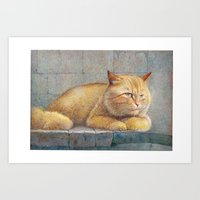 ginger Art Prints featuring Ginger by irshi