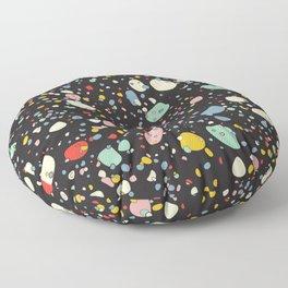 modern scandinavian multi-colour pebbles black Floor Pillow