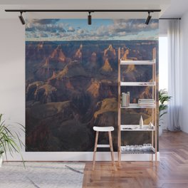 South Rim - Grand Canyon Illuminated in Evening Sunlight Wall Mural
