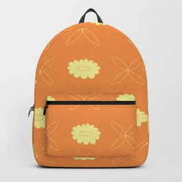 Floral pattern - orange and yellow Backpack