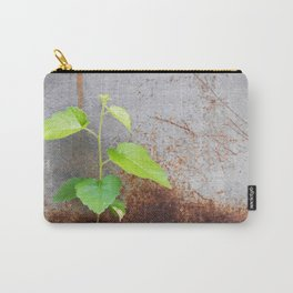 Fresh green with rusty grey Carry-All Pouch