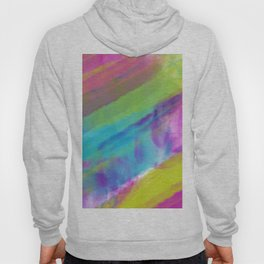 cold green and blue watercolor abstract Hoody