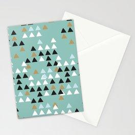 Scandinavian geometric triangle Stationery Cards