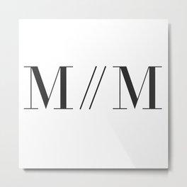 M // M Metal Print