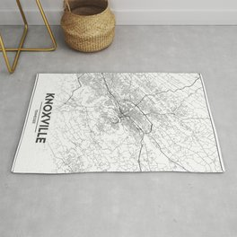 Minimal City Maps - Map Of Knoxville, Tennessee, United States Rug