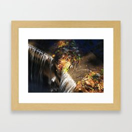 At the Top of the Spillway Framed Art Print