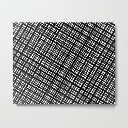 The Bauhaus Grid, diagonal pattern Metal Print