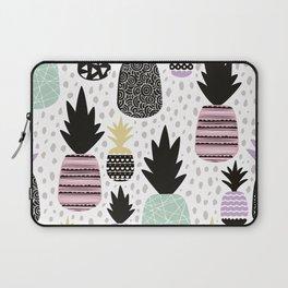 Summer pineapples in pastel color pop Laptop Sleeve
