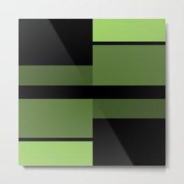 An abstract geometric pattern . Alex 2 Metal Print