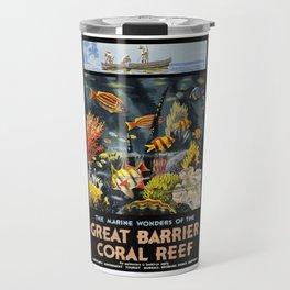 1933 Australia Great Barrier Coral Reef Travel Poster Travel Mug