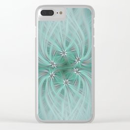 Daisy Twirl Clear iPhone Case