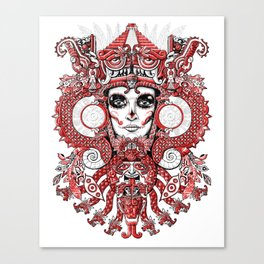 Red Serpent Queen Canvas Print