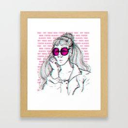 Rose Coloured glasses Framed Art Print