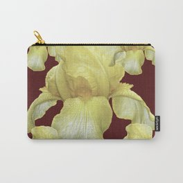 PALE YELLOW IRIS ON BURGUNDY COLOR Carry-All Pouch