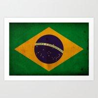 brasil Art Prints featuring Brasil by NicoWriter