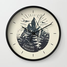 Craving wanderlust III Wall Clock