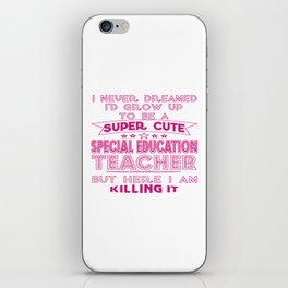 Super Cute Special Education Teacher iPhone Skin