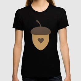 Acorn with heart T-Shirt for Women, Men and Kids T-shirt