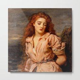 "John Everett Millais ""The Martyr of the Solway"" Metal Print"