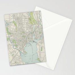 Vintage Map of New Haven Connecticut (1901) Stationery Cards