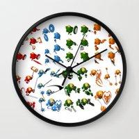 robots Wall Clocks featuring Robots by Artysmedia