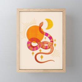 Abstraction_SUN_MOON_SNAKE_Minimalism_001 Framed Mini Art Print