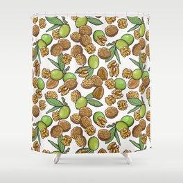cheeky walnuts pattern Shower Curtain