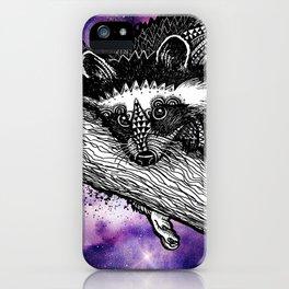 Galaxy Raccoon iPhone Case